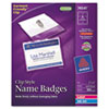 Avery® Name Badge Holders Kit with Laser/Inkjet Inserts | www.SelectOfficeProducts.com