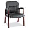 Alera® Madaris Series Leather Guest Chair with Wood Trim Legs | www.SelectOfficeProducts.com