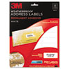 3M Permanent Adhesive White Weatherproof Address Labels | www.SelectOfficeProducts.com