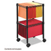 Safco® Two-Tier Compact Mobile Wire File Cart | www.SelectOfficeProducts.com