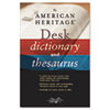 Houghton Mifflin American Heritage® Desk Dictionary and Thesaurus | www.SelectOfficeProducts.com