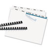 Avery® Index Maker® Clear Label Unpunched Dividers for Binding Systems with White Tabs | www.SelectOfficeProducts.com