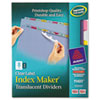 Avery® Index Maker® Clear Label Punched Translucent Dividers | www.SelectOfficeProducts.com
