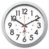 Chicago Lighthouse Silver Contemporary Clock   www.SelectOfficeProducts.com