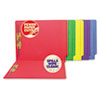S J Paper WaterShed® CutLess® Colored Reinforced End Tab File Folders With Fasteners | www.SelectOfficeProducts.com
