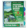 C-Line® Biodegradable Poly Index Dividers With Pockets   www.SelectOfficeProducts.com