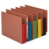 Smead® Redrope Drop Front End Tab File Pockets with Colored Tyvek® Gussets | www.SelectOfficeProducts.com