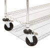 Alera® Complete Wire Shelving Unit with Casters | www.SelectOfficeProducts.com