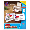 Avery® Printable Flash Cards | www.SelectOfficeProducts.com