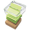 Post-it® Greener Notes Glass & Cork Notes Dispenser | www.SelectOfficeProducts.com