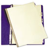 Avery® Double Sided Reinforced Six Tab Gold Reinforced Data Binder Insertable Tab Dividers with Clear Tabs | www.SelectOfficeProducts.com