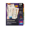 Avery® Executive Ready Index® Table of Contents Dividers with Multicolor Tabs | www.SelectOfficeProducts.com