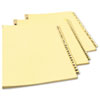 Avery® Preprinted Laminated Tab Dividers with Gold Reinforced Binding Edge | www.SelectOfficeProducts.com