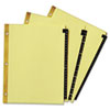 Avery® Preprinted Black Leather Tab Dividers with Gold Reinforced Binding Edge | www.SelectOfficeProducts.com