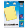 Avery® Untabbed Sheet Dividers | www.SelectOfficeProducts.com