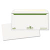 Bagasse Sugar Cane Business Envelopes, Double Window, #10, 500/Box