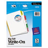 Avery® Write-On Big Tab™ Dividers with Erasable Laminated Tabs | www.SelectOfficeProducts.com