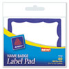 Avery® Name Badge Label Pads | www.SelectOfficeProducts.com