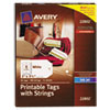 Avery® Printable Tags with Strings   www.SelectOfficeProducts.com