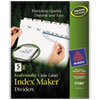 Avery® EcoFriendly Index Maker® Punched Clear Label Dividers with White Tabs | www.SelectOfficeProducts.com