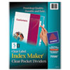 Avery® Index Maker® Punched Clear Pocket Presentation Dividers | www.SelectOfficeProducts.com