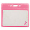 Advantus® Breast Cancer Awareness Badge Holder | www.SelectOfficeProducts.com