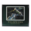 "Advantus® ""Teamwork-Great Wall of China"" Framed Motivational Prints 
