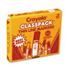 Crayola® Fine Line 200-Count Classpack® Non-Washable Marker | www.SelectOfficeProducts.com