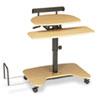 BALT® Hi-Hi-Lo Adjustable Pneumatic Sit/Stand Computer Workstation | www.SelectOfficeProducts.com