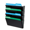 deflect-o® DocuPocket® Stackable Four-Pocket Wall Set | www.SelectOfficeProducts.com