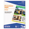 Epson® Matte Presentation Paper | www.SelectOfficeProducts.com