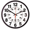Chicago Lighthouse Black Quartz 12-24 Hour Wall Clock   www.SelectOfficeProducts.com