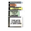 Magna Visual® Data Cards for Magnetic Card Holders | www.SelectOfficeProducts.com