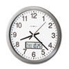 Howard Miller® Chronicle Wall Clock with LCD Inset   www.SelectOfficeProducts.com