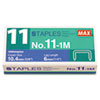 Max® No. 11 Mini Staples | www.SelectOfficeProducts.com