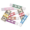 PM Company® Color-Coded Kraft Currency Straps | www.SelectOfficeProducts.com