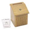 Safco® Locking Woodgrain Suggestion Box | www.SelectOfficeProducts.com