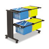 Safco® Muv™ Double Width Filing Cart | www.SelectOfficeProducts.com