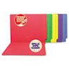 S J Paper Water-Resistant and Paper Cut-Resistant End Tab Colored File Folders   www.SelectOfficeProducts.com