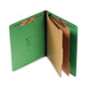 S J Paper Six-Section Pressboard End Tab Classification Folders with Kraft Dividers | www.SelectOfficeProducts.com