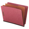 Universal® Red Pressboard End Tab Classification Folders | www.SelectOfficeProducts.com