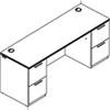 HON® Arrive™ Wood Veneer Series Kneespace Credenza | www.SelectOfficeProducts.com