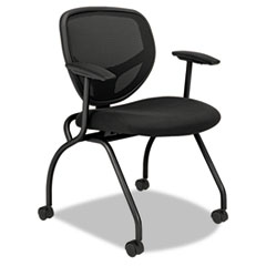 basyx VL301 Mesh Back Nesting Arm Chair