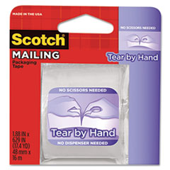 Scotch Tear-By-Hand Packaging Tapes