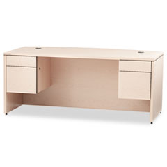 HON® 10500 Series Bow Front Double Pedestal Desk