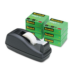 Scotch® Magic™ Tape Six-Roll Value Pack with C40 Dispenser
