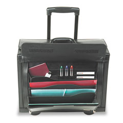 SOLO® Leather Rolling Laptop Catalog Case
