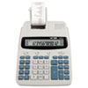 1228-2 Two-Color Roller Printing Calculator, 12-Digit LCD, Black/Red