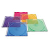 Verbatim CD/DVD Slim Case, Assorted Colors, 50/Pack