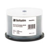 Verbatim CD-R Discs, 700MB/80min, 52x, Spindle, White, 50/Pack